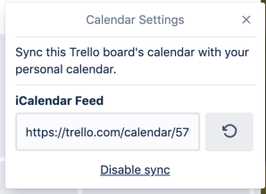 Sync your cards due date from Trello with your personal calendar