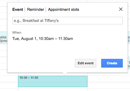 schedule tweets - google calendar event
