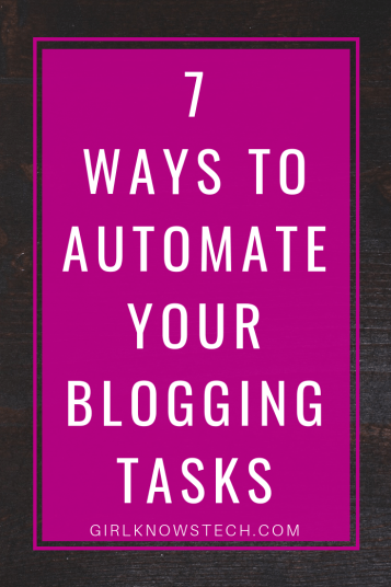 7 ways to automate your blogging tasks with IFTTT! Gain time and automate your tasks as much as possible. #blogging #bloggingtips #blogger