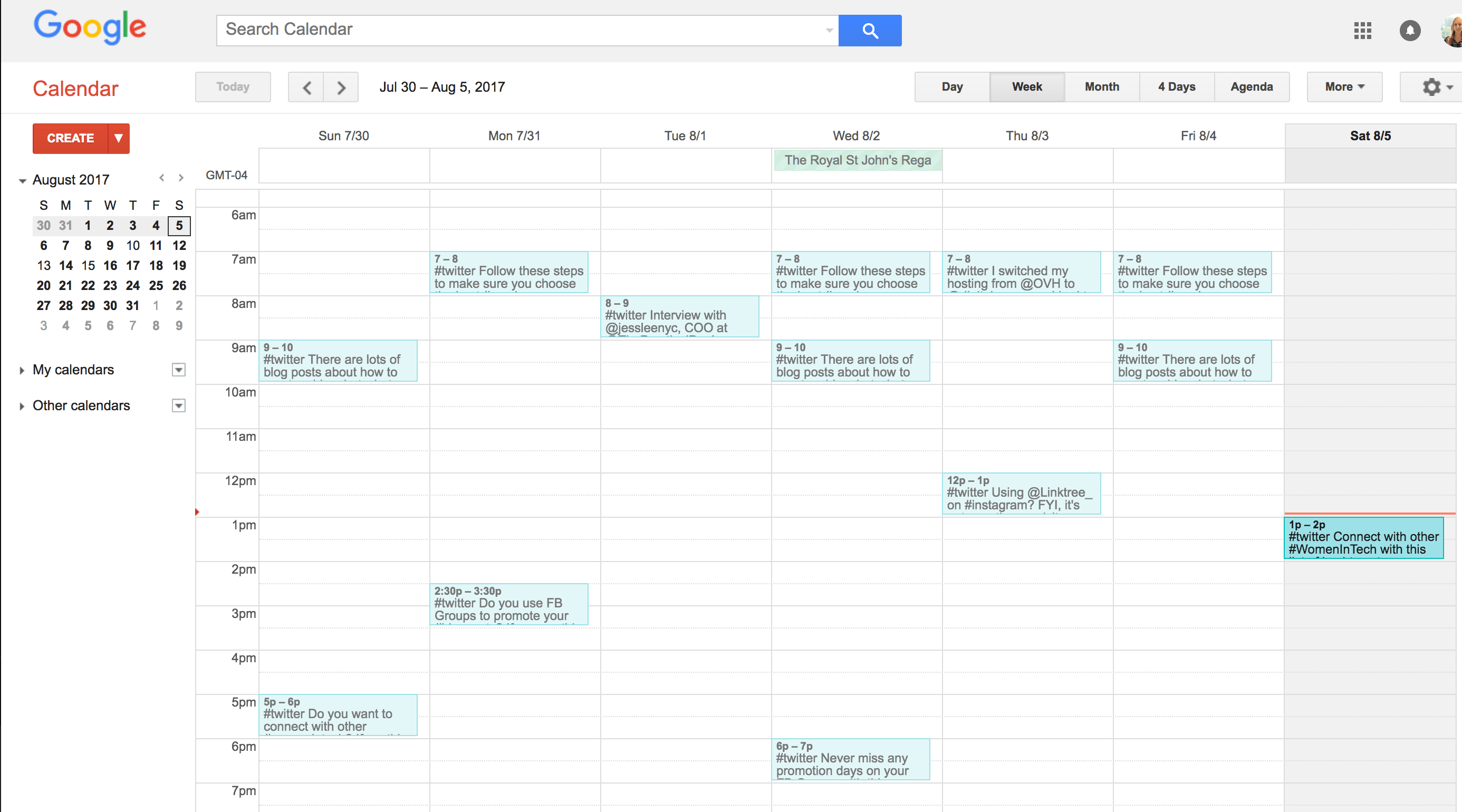 how to schedule tweets with google calendar – girl knows tech