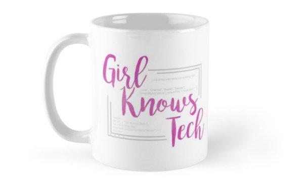 office tour - Girl Knows Tech mug