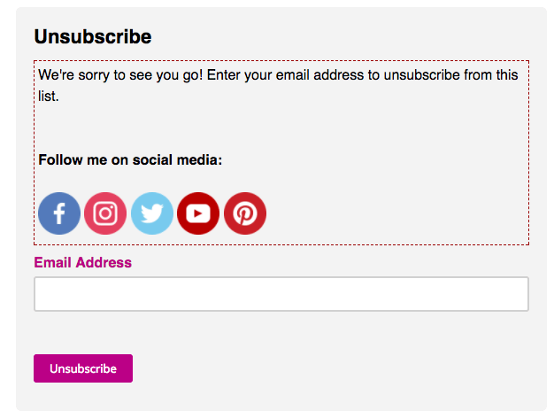 Why you need to edit your unsubscribe newsletter form – Girl Knows ...