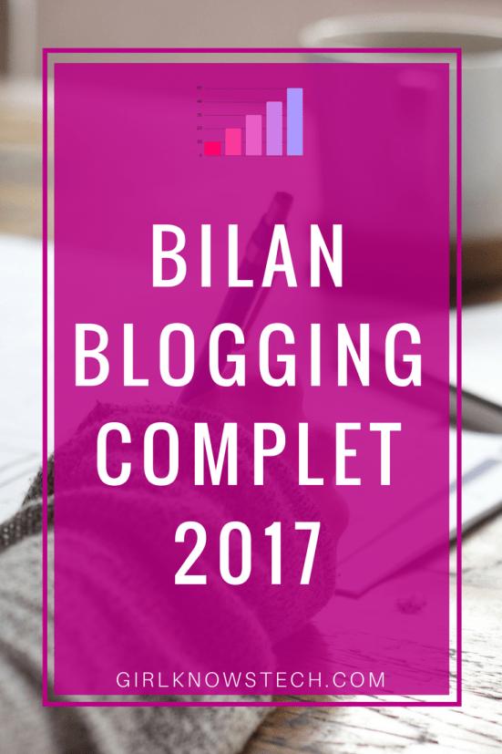 Découvrez mon bilan blogging complet pour 2017! Je vous parle de mes statistiques de l'année, je reviens sur les buts que je m'étais fixée pour l'année, et bien plus encore!