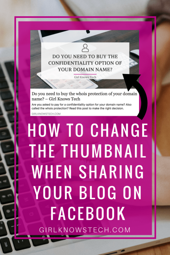 Do you get the wrong image displayed on Facebook when you share your blog? I'm sure you do! Learn how to change the thumbnail when sharing your blog to FB! A complete step-by-step guide!
