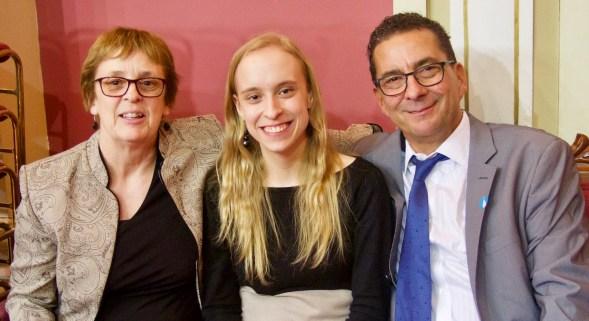 Marie-Philippe Gill et ses parents