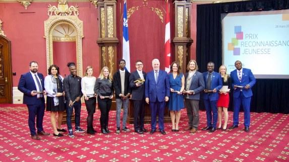 Les récipiendaires des premiers Prix Reconnaissance Jeunesse du Premier Ministre