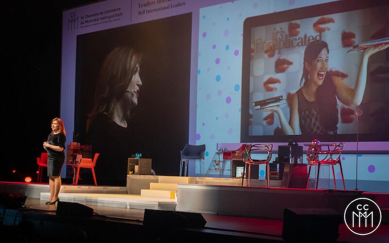 Randi Zuckerberg en conférence à la salle Wilfred-Pelletier à Montréal