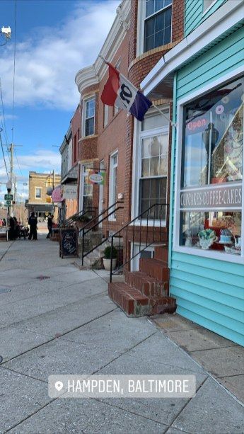 Picture of cute shops in Hampden, Baltimore