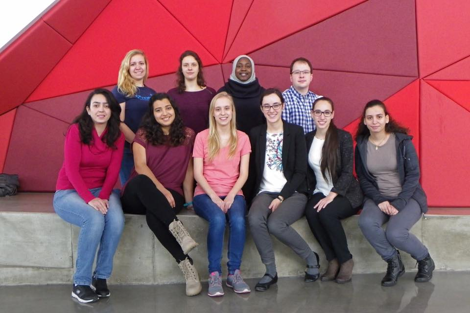 Photo de groupe du club étudiant les ingénieuses en 2016
