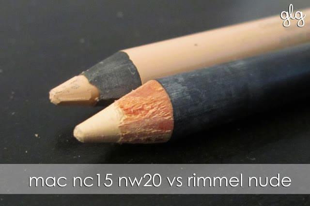 NUDE LINER | MAC NC15 NW20 vs RIMMEL SCANDALEYES NUDE