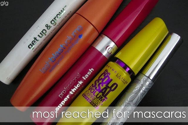 MOST REACHED FOR: Mascaras