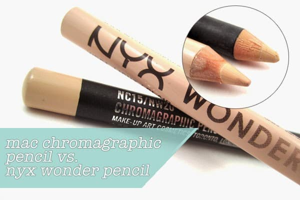 mac chromagraphic pencil nc15 nw20 dupe Nyx Wonder Pencil in Light