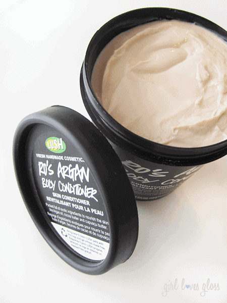 lush ro's argan body conditioner girllovesgloss.com