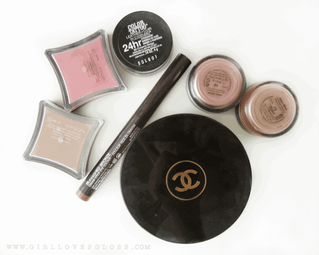 cream products illamasqua hollow, chance soleil tan de chanel, maybelling color tattoo, make up for ever aqua cream