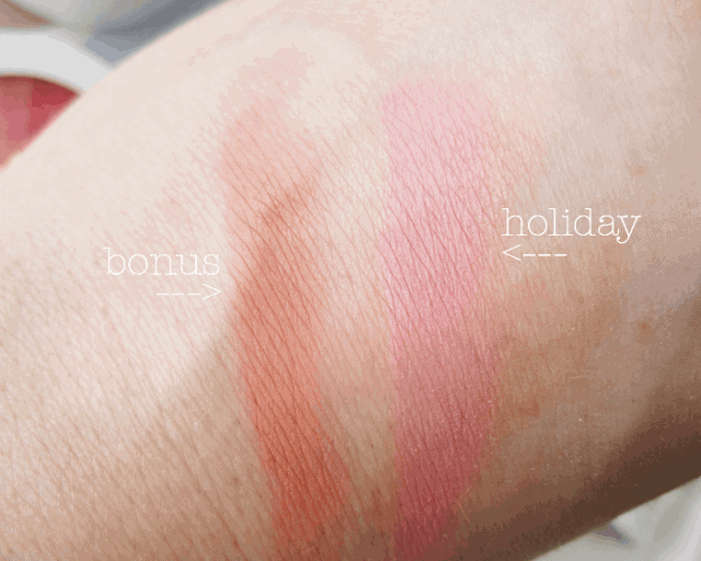 Colour Pop blush in Bonus, Holiday swatch