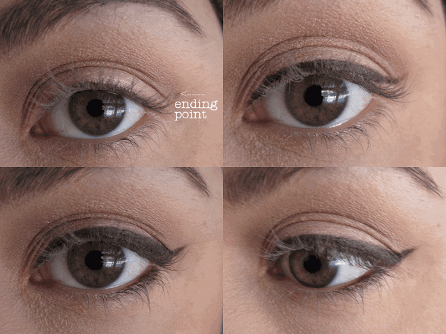 The Charlotte Tilbury Method step by step Feline Flick Winged Liner