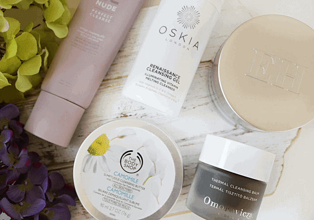Cleansing Balms: NUDE, Oskia, The Body Shop, Emma Hardie, Omorovicza