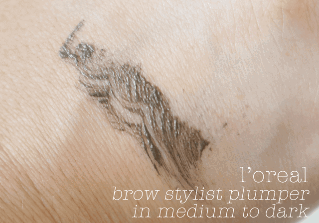 Loreal Brow Stylist Plumper Brow Gel Review and Swatch