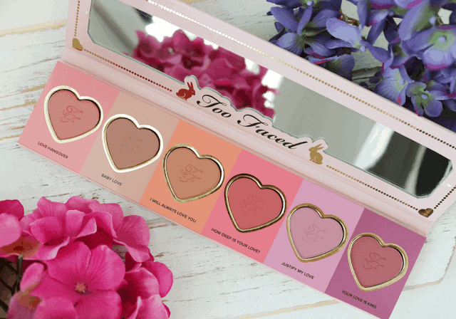 Too Faced Love Flush Blush Wardrobe Review and Swatches