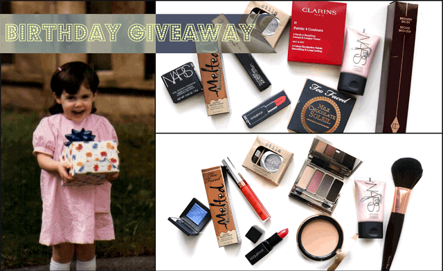 Annual Birthday Makeup Giveaway: Stila, Charlotte Tilbury, Smashbox, NARS, Too Faced, Anastasia Beverly Hills, Clarins