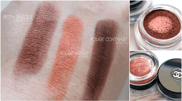 Chanel le Rouge Collection No1 Fall 2016 Illusion D'Ombre Rouge Brule and Rouge Contraste
