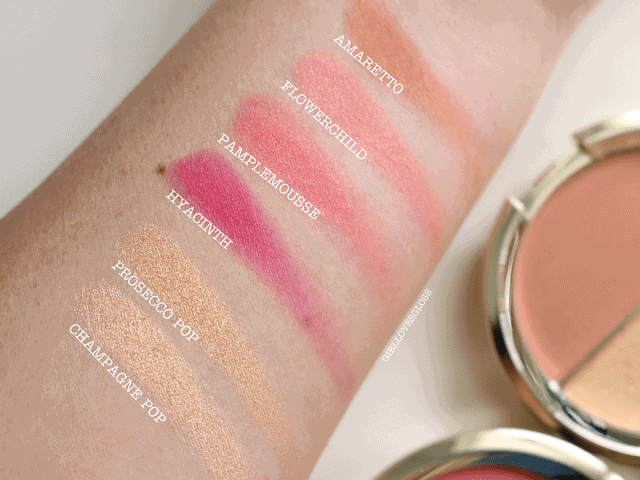 Becca Jaclyn Hill Champagne Splits Review and Swatches