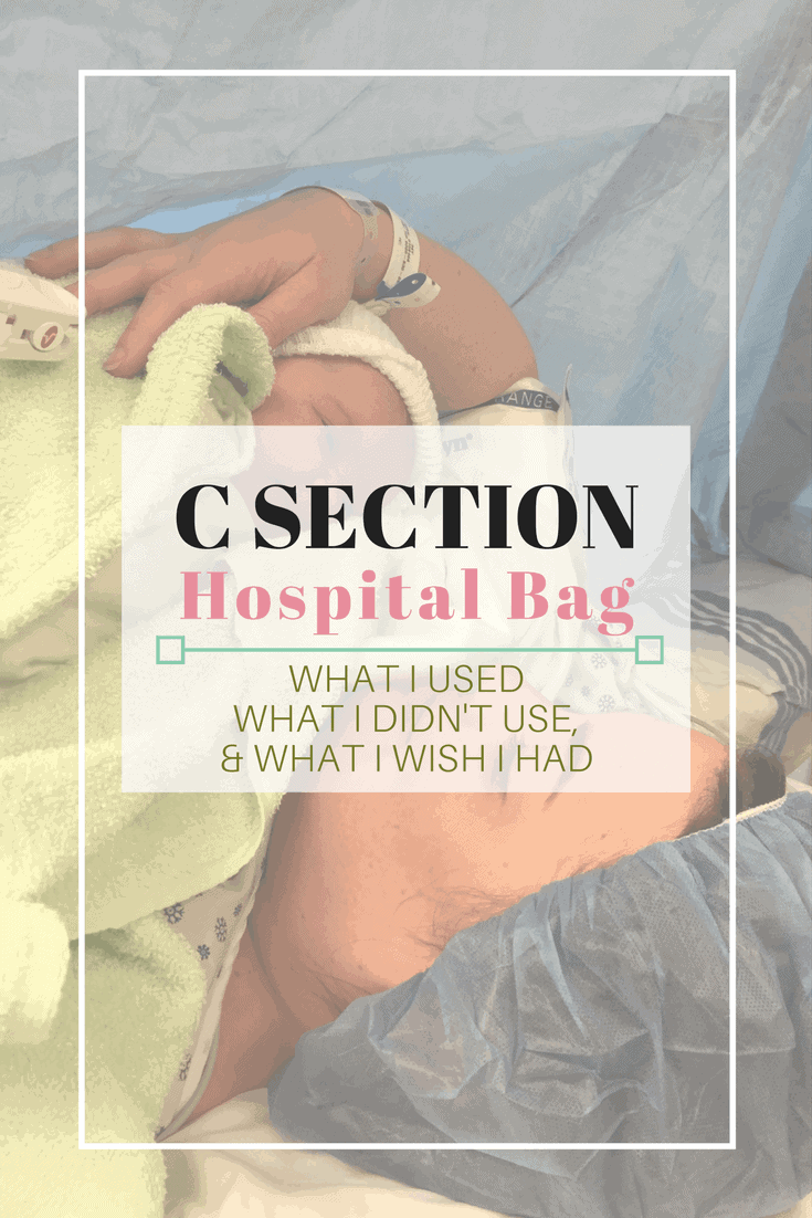 How to Pack your hospital bag for a c section