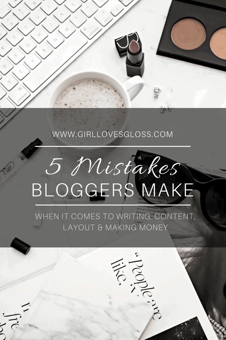 5 Mistakes I See Bloggers Making