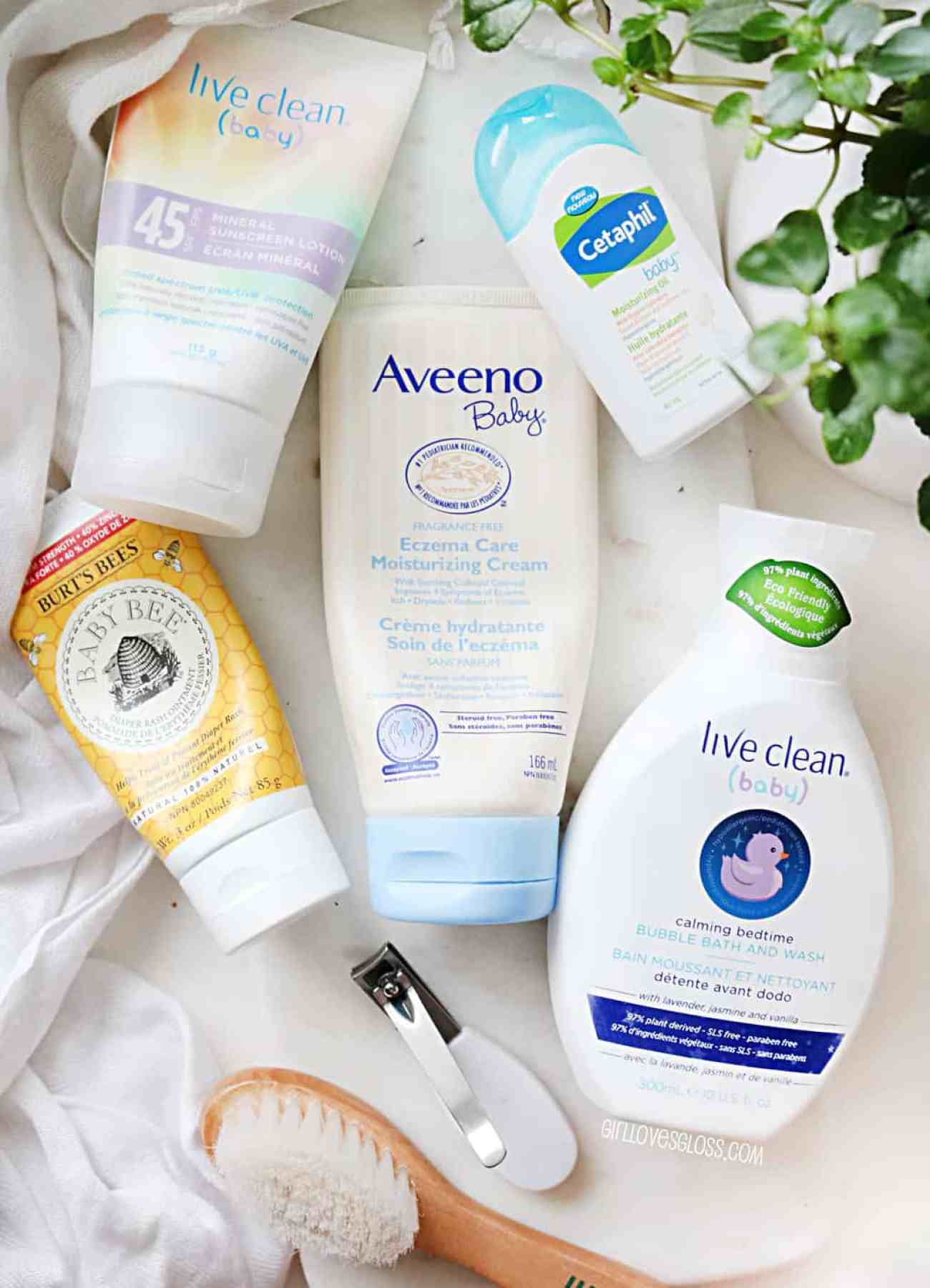 Baby Beauty Products for cradle cap, diaper rash, eczema and sunscreen