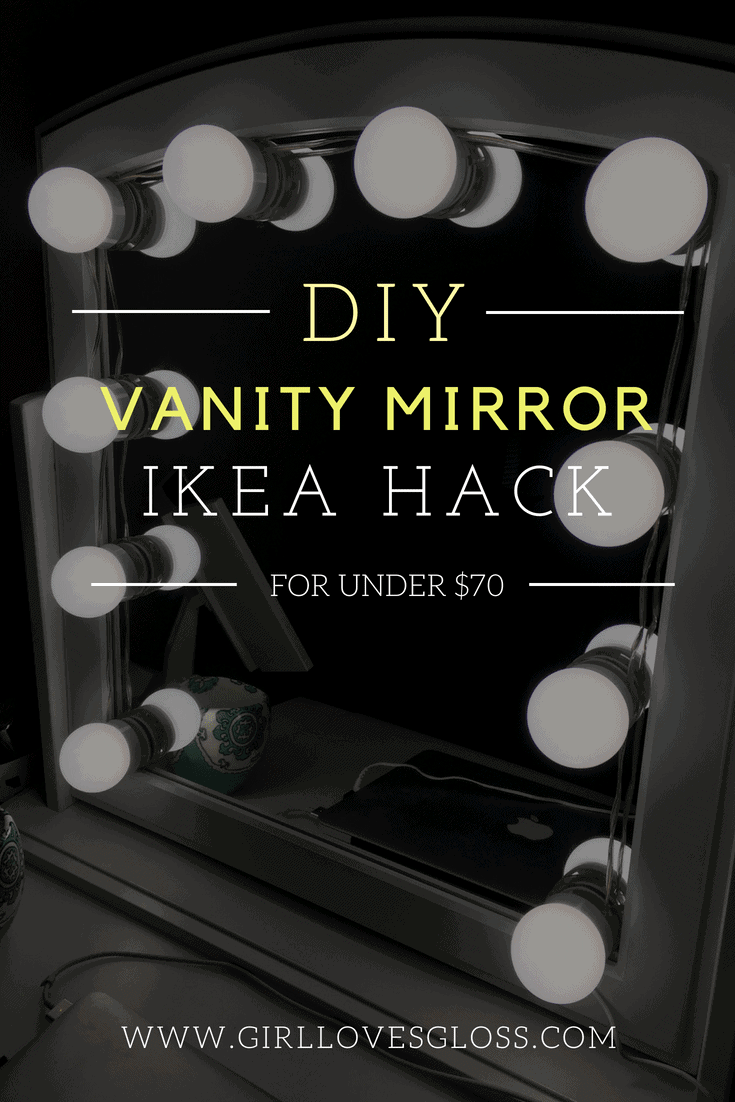 Ikea Vanity Mirror Hack DIY