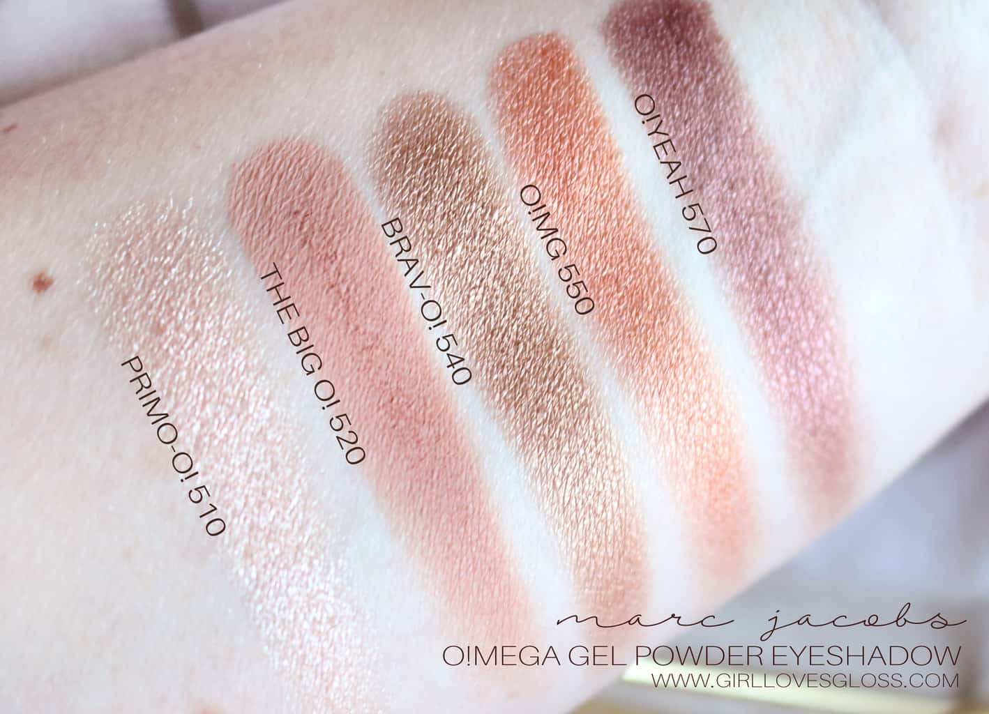 Marc Jacobs Beauty Omega Gel Shadows