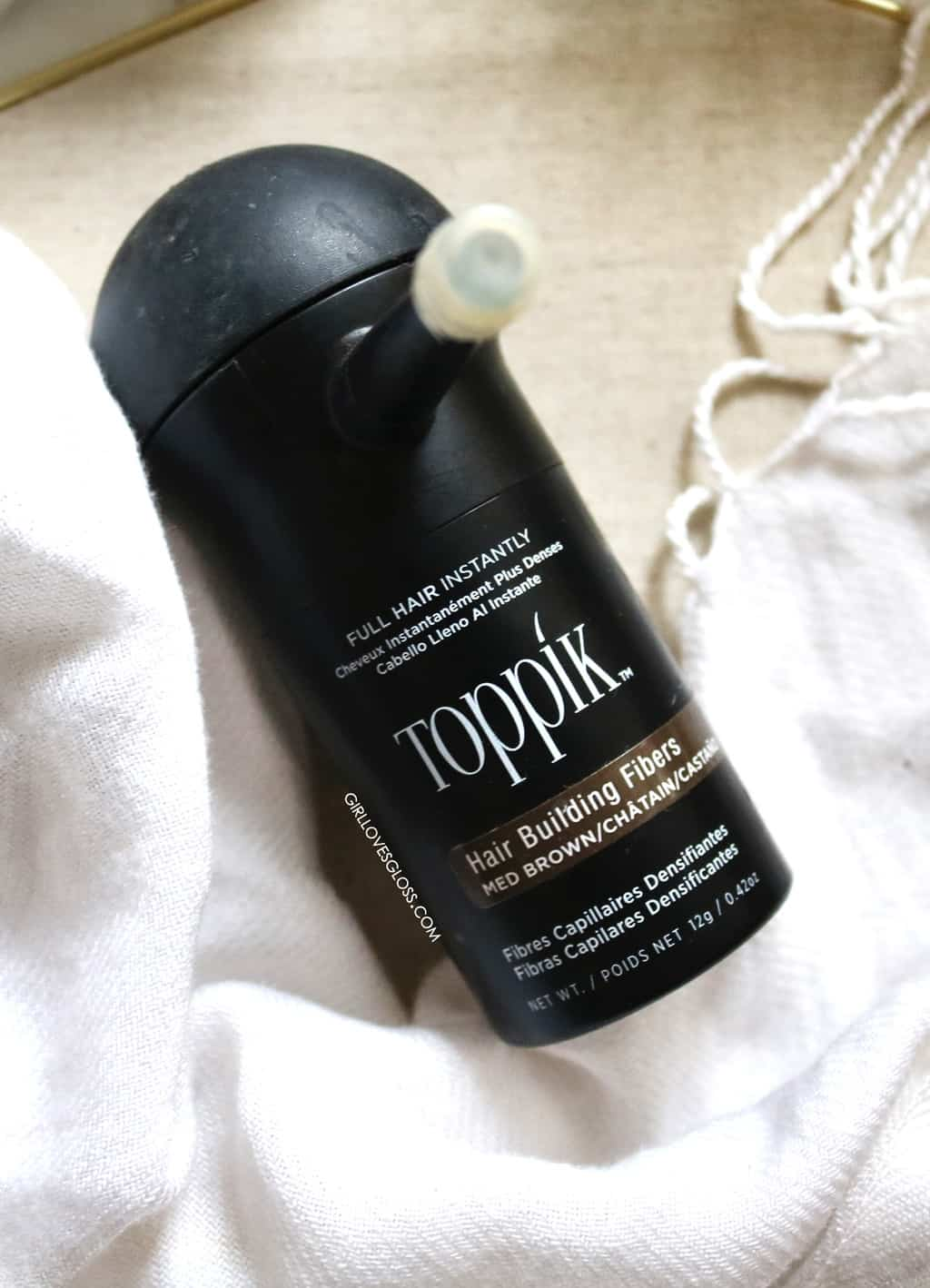 toppik hair building fibres medium brown