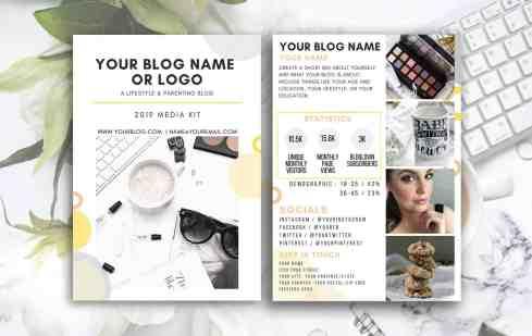 SUNNY Blog Influencer Media Kit