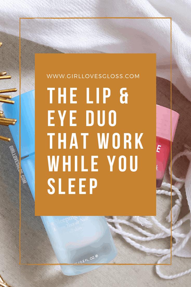 Laneige Lip and Eye Sleeping Masks