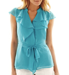 Worthington® Ruffle Blouse from JCPenney