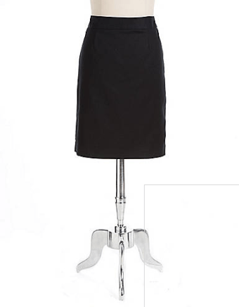 Chelsea & Theodore Stretch-Cotton Pencil Skirt from Lord & Taylor