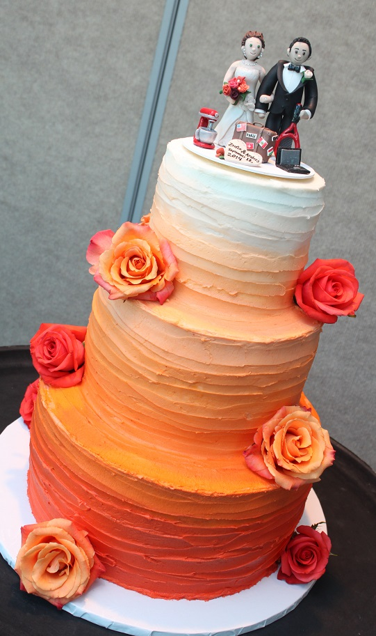 Pink And Gray Wedding Cake Ideas