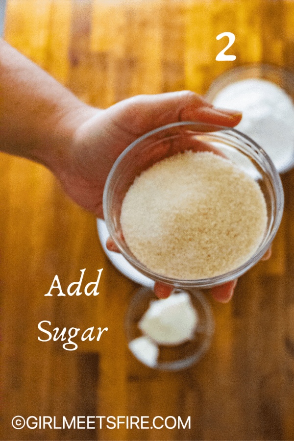 Sugar for the cookie batter