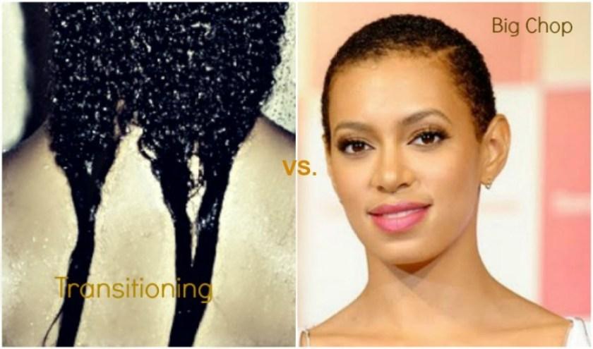 transitioning vs big chop