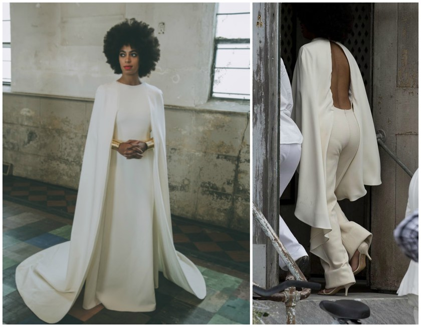 Solange wedding outfits