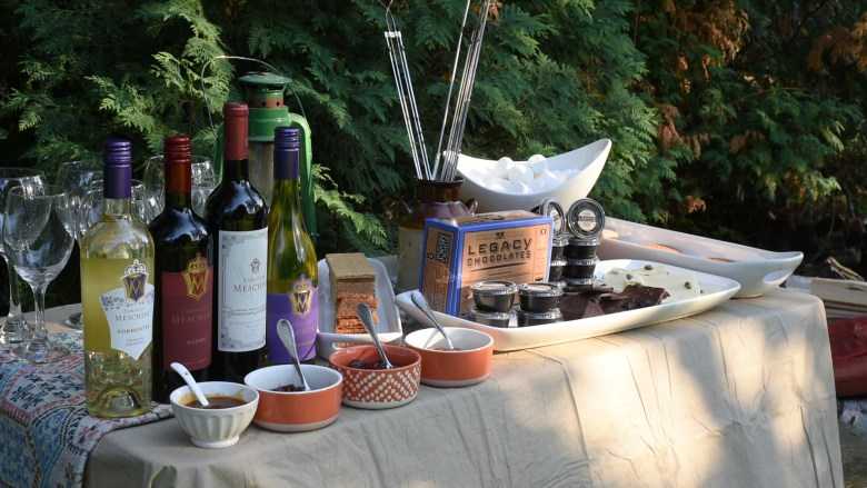 Wine and S'mores Station