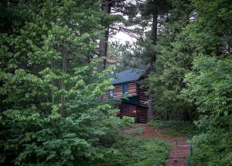 cabin in the woods of wisconsin