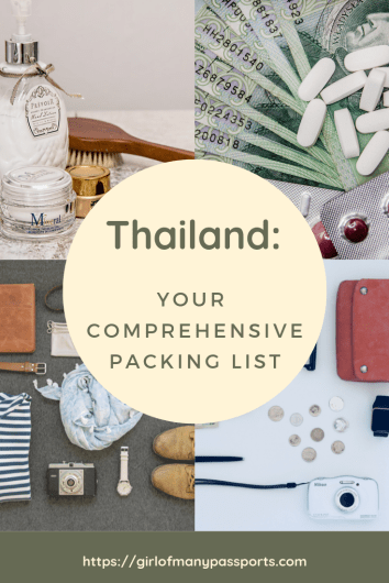 Thailand - Your Comprehensive Packing List | A Girl of Many Passports