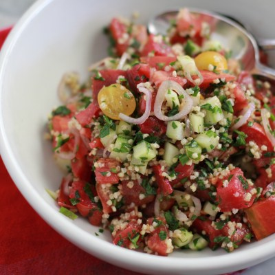 heirloom tomato and millet tabouleh