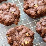 double chocolate walnut cookies and the great food blogger cookie swap