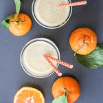 honey tangerine, yogurt and oat smoothie
