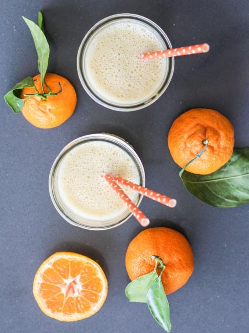 honey tangerine smoothie top www.girlontherange.com