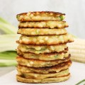 buttered corn and green onion fritters