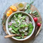 snap pea, radish and quinoa salad
