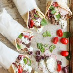 roasted lamb gyros with herb tzatziki